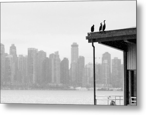 View From Londsdale Quay Metal Print