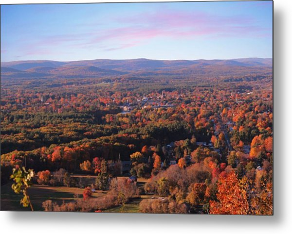 View From Mount Tom In Easthampton, Ma Metal Print