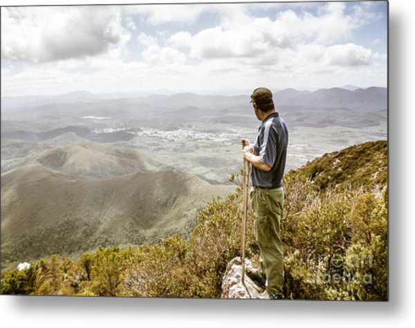 View From Mt Zeehan Tasmania Metal Print
