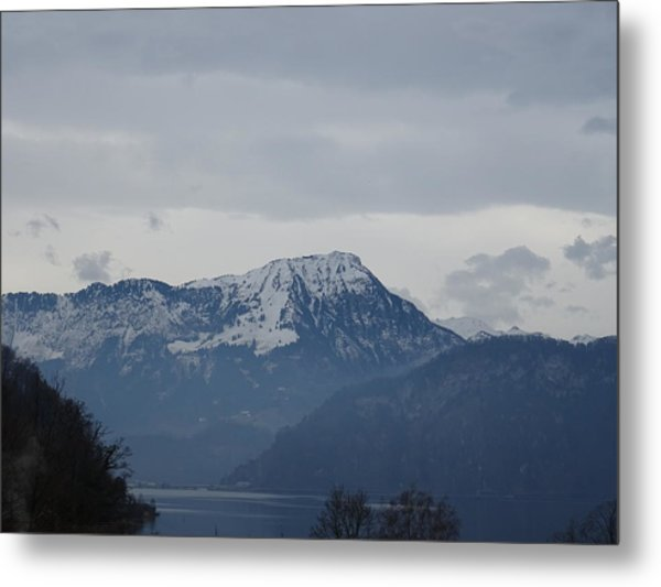 View From My Art Studio - Stanserhorn - March 2018 Metal Print