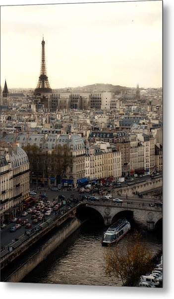 View From Notre Dame Metal Print by Cabral Stock