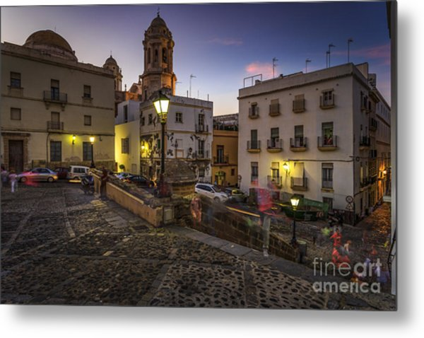 Metal Print featuring the photograph View From Old Cathedral Cadiz Spain by Pablo Avanzini