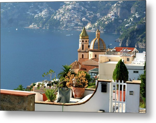 View From Praiano To Positano Metal Print