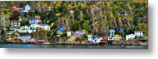 View From The Harbor St Johns Newfoundland Canada Metal Print