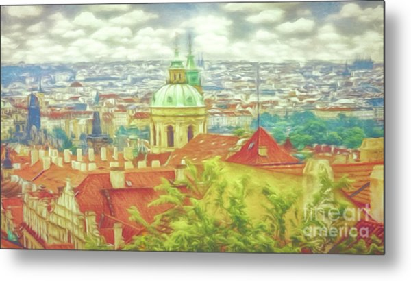 View From The High Ground - Prague  Metal Print