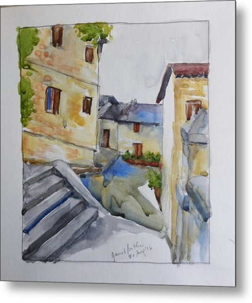 View From The Steps  Metal Print by Janet Butler
