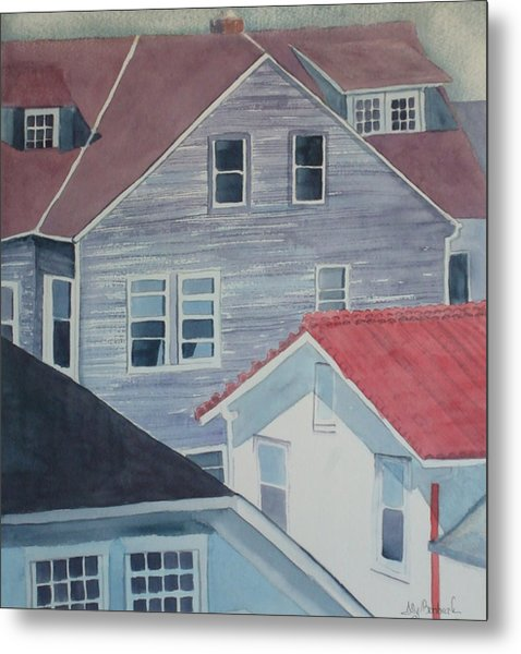 View From Theback Window Metal Print by Ally Benbrook
