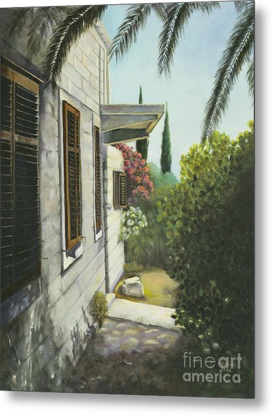 View In A Croatian Garden Metal Print
