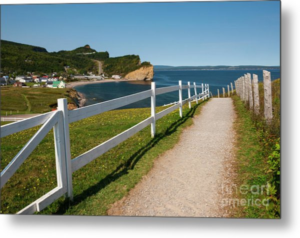 Metal Print featuring the photograph View In Perce Quebec by Elena Elisseeva