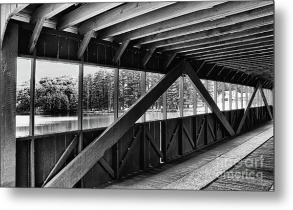View Inside Covered Bride Black And White Metal Print by Jeanne OConnor