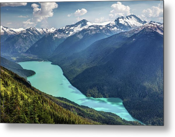 Metal Print featuring the photograph View Of Cheakamus Lake From The High Note Trail by Pierre Leclerc Photography