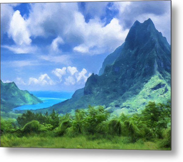 View Of Cook's Bay Mo'orea Metal Print