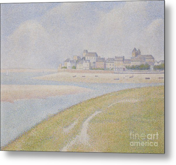 View Of Le Crotoy, From Upstream, 1889  Metal Print