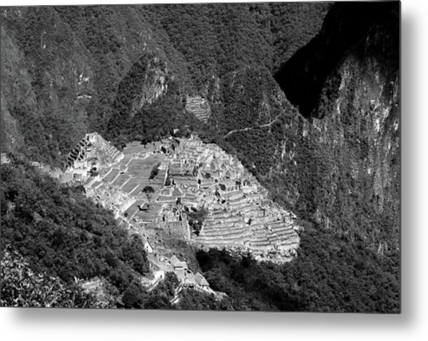 View Of Machu Picchu From The Inca Trail Metal Print