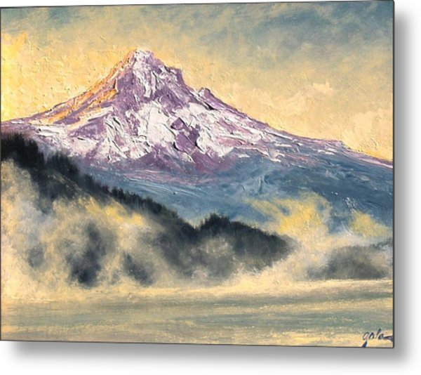 View Of Mt Hood Metal Print by Jim Gola