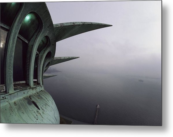 View Of New York Harbor From The Top Metal Print