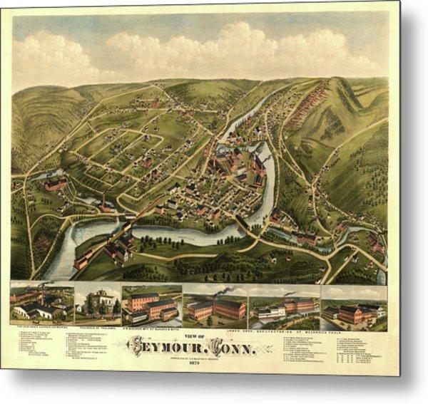 View Of Seymour, Conn. Metal Print