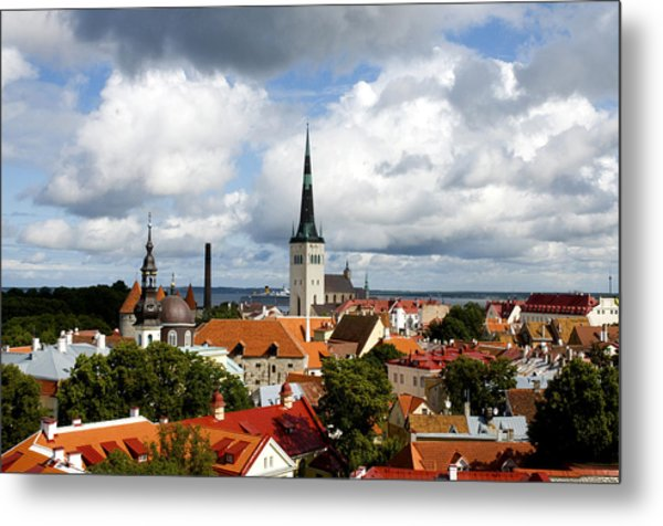 View Of St Olav's Church Metal Print