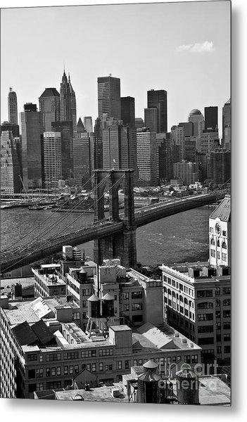 View Of The Brooklyn Bridge Metal Print