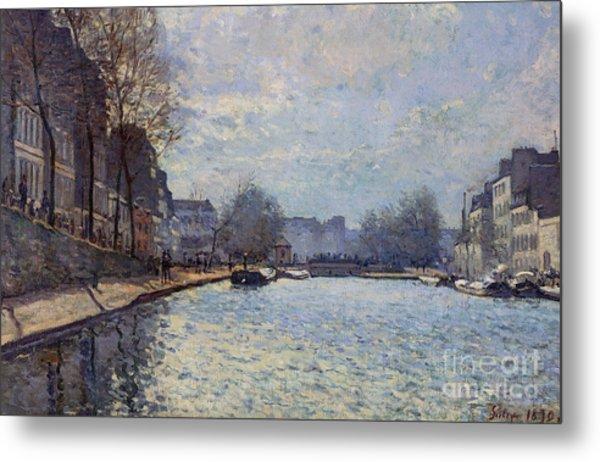 View Of The Canal Saint-martin Paris Metal Print