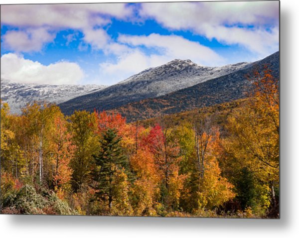 View Of The Presidential Mountains Metal Print