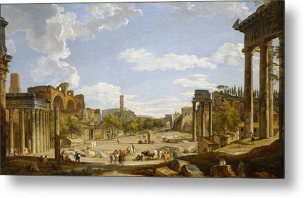 View Of The Roman Forum Metal Print