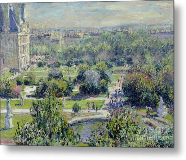 View Of The Tuileries Gardens Metal Print