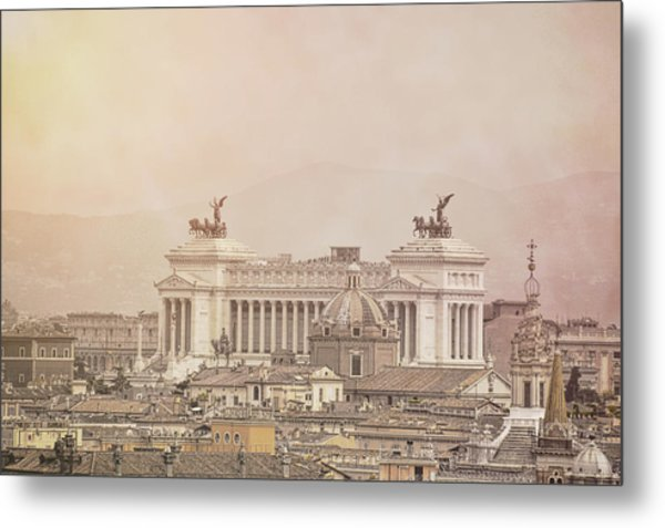 View Of Vittoriano In Rome Metal Print by JAMART Photography