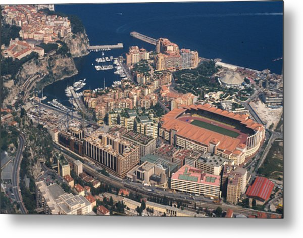 View On Monte Carlo On French Riviera Metal Print by Carl Purcell