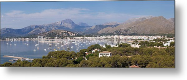 View Over Port De Pollenca To Serra De Metal Print
