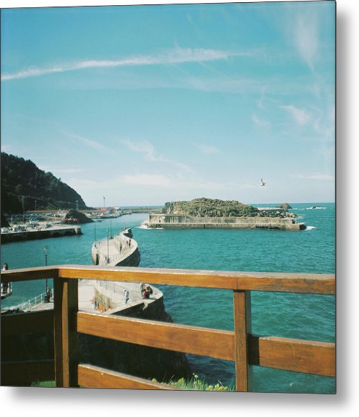 View Over The Ocean Port Metal Print