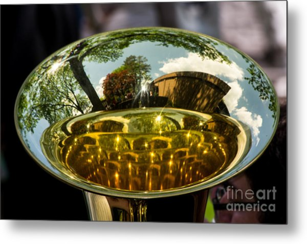 View Through A Sousaphone Metal Print