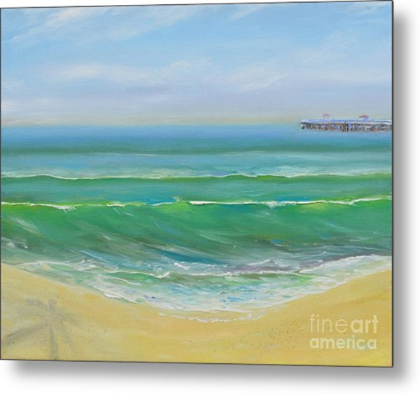 View To The Pier Metal Print
