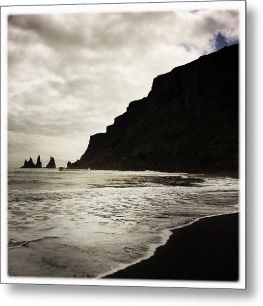 Vik Beach Reynisdrangar Iceland Metal Print