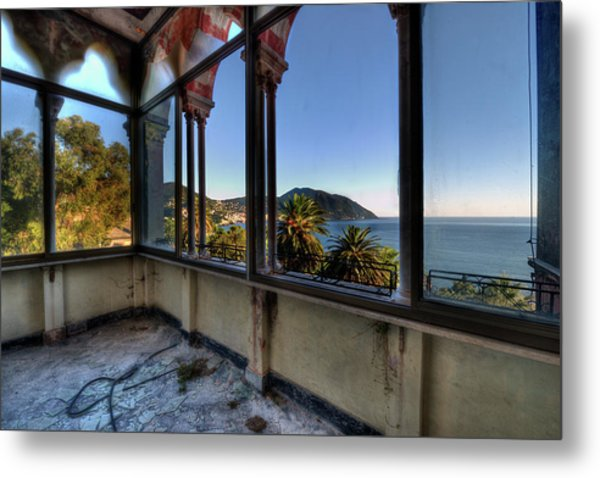Villa Of Windows On The Sea - Villa Delle Finestre Sul Mare II Metal Print