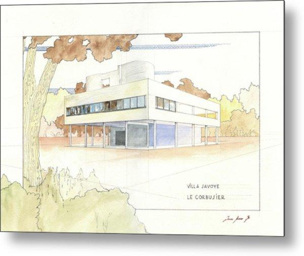 Villa Savoye Le Corbusier Metal Print