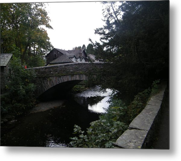 Village Bridge Metal Print