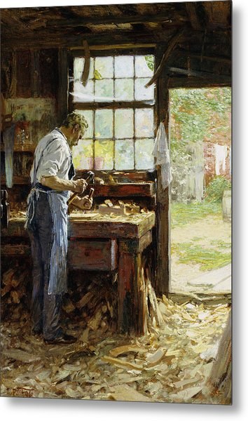 Village Carpenter Metal Print