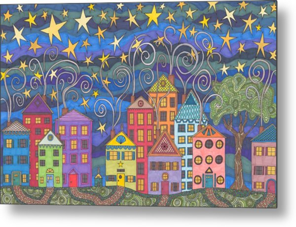 Village Lights Metal Print