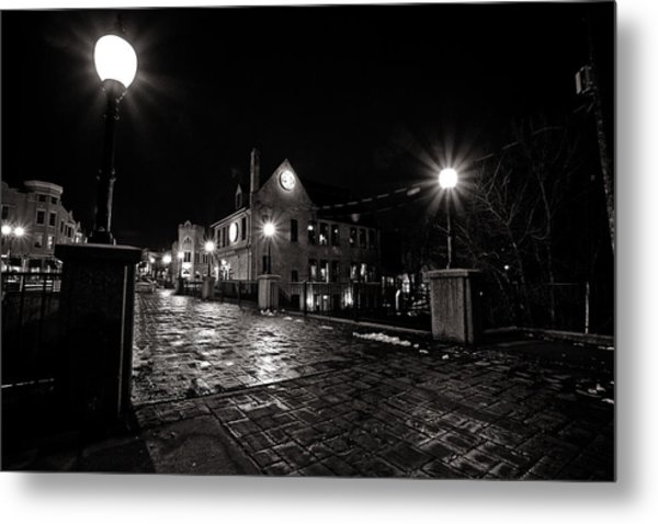 Village Walk Metal Print