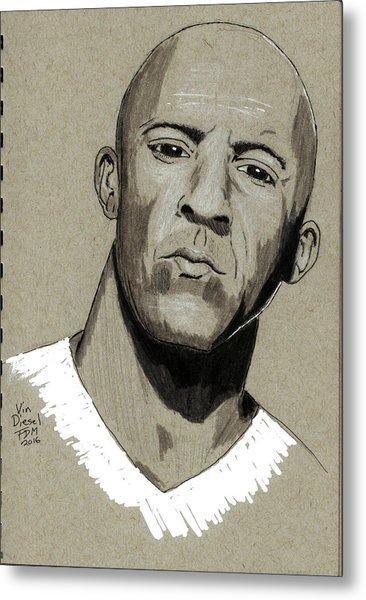 Vin Diesel Metal Print