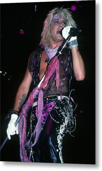 Vince Neil Of Motley Crue Metal Print