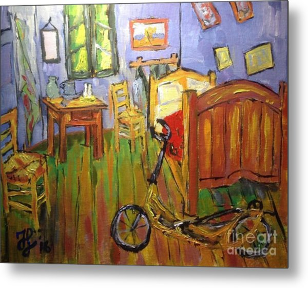 Vincent Van Go's Bedroom Metal Print