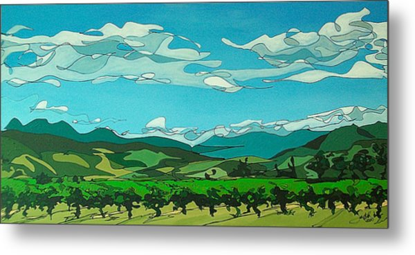 Vineyard Landscape Metal Print