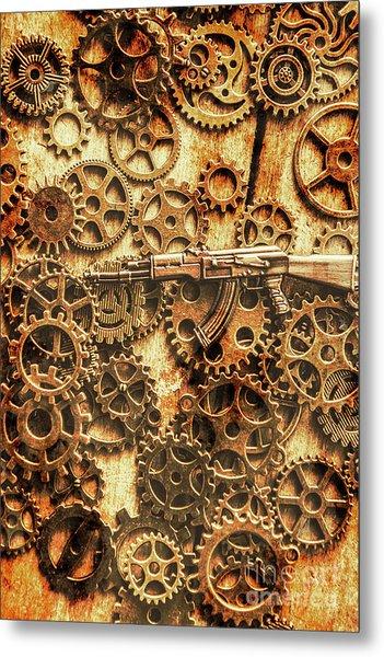 Vintage Ak-47 Artwork Metal Print