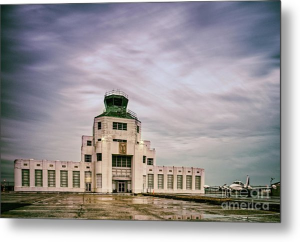 Vintage Architectural Photograph Of The 1940 Air Terminual Museum - Hobby Airport Houston Texas Metal Print