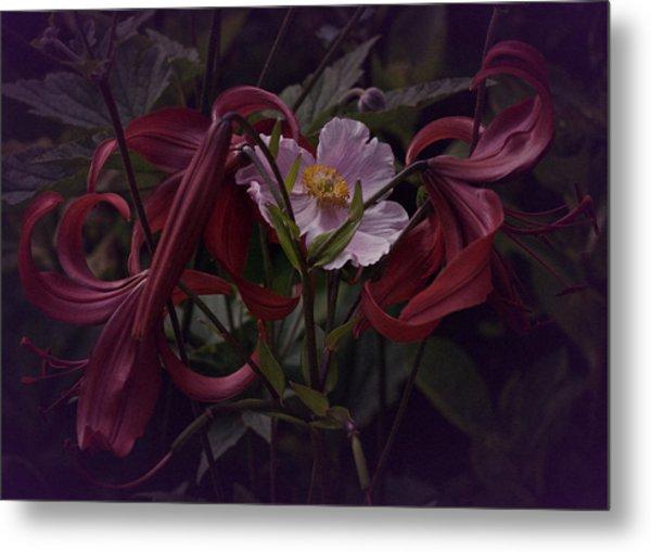 Vintage Asiatic Lilies  Metal Print