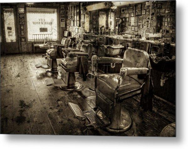Vintage Barber Shop Metal Print