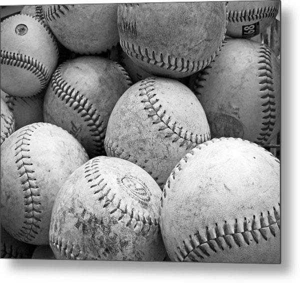 Vintage Baseballs Metal Print