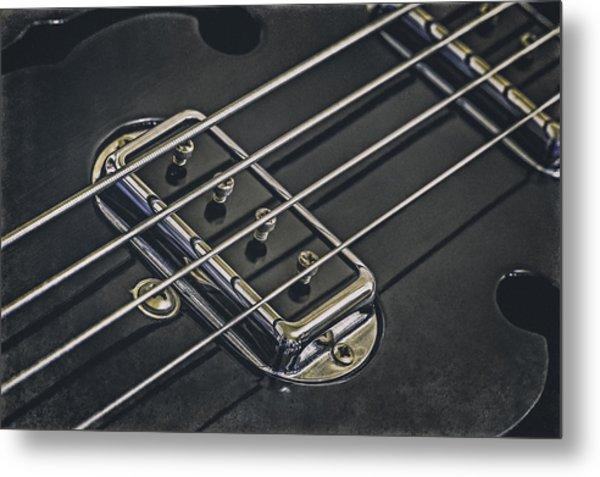 Vintage Bass Metal Print